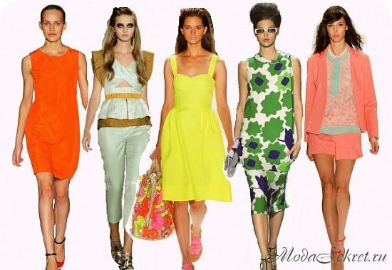 какие цвета в моде летом 2014