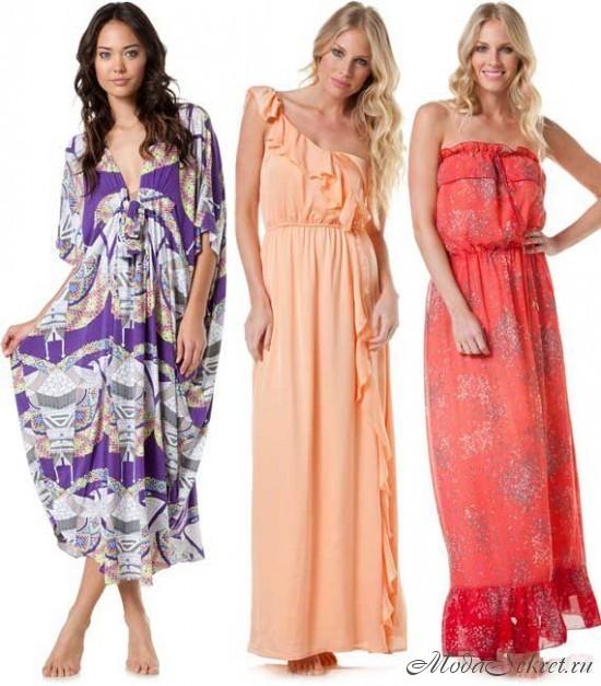 Летние платья на 2012 год