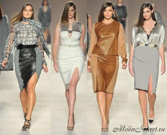 Мода для полных осень 2012 фото