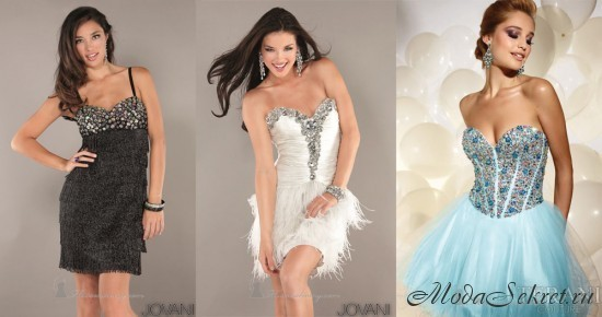 платья на выпускной этого года короткие фото