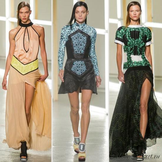 модные платья весна лето этого года