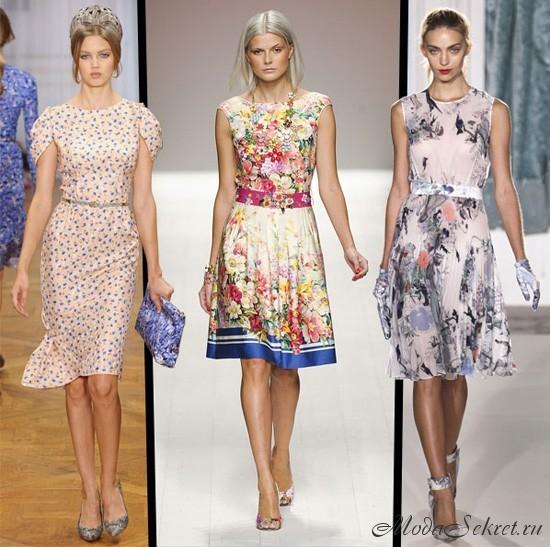 модные платья лето этого года