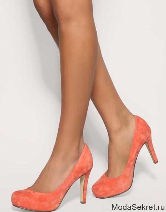 коралловые туфли с чем носить фото