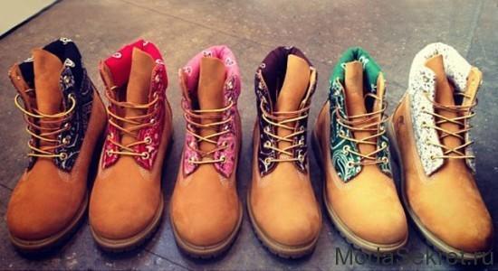 шесть различных вариантов ботинок для зимы