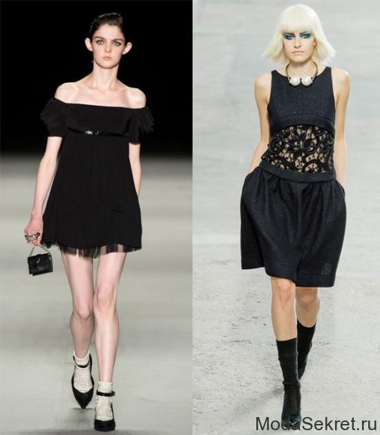 две модели в черных платьях