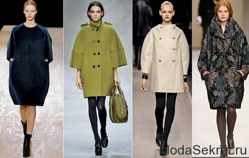 модели в различных пальто