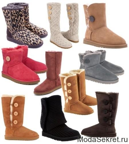 фото различных видов зимних сапог для женщин