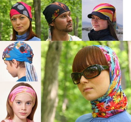 Способы ношения банданы на голове