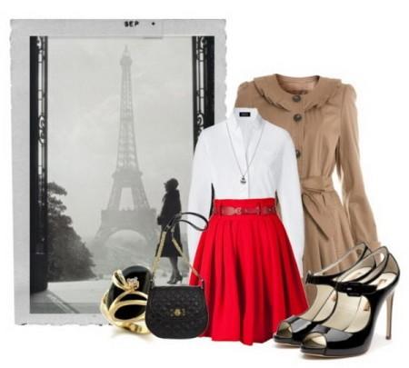 Самые популярные решения для красной юбки
