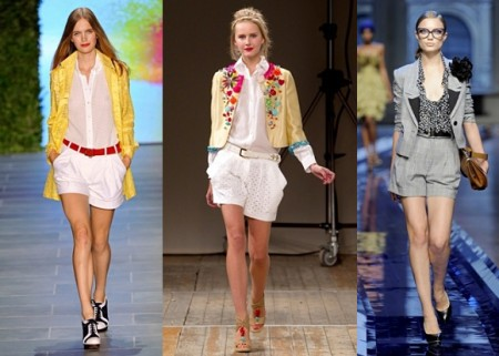 Женские юбка-шорты с укороченным пиджаком