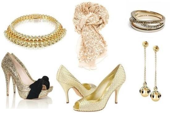Яркие аксессуары и блестящая одежда