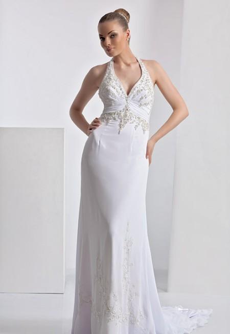 Классическое свободное свадебное платье
