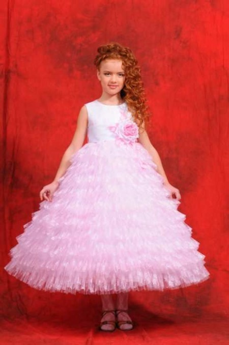 Вязаные бальные детские платья