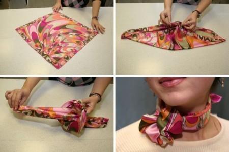 Несколько способов завязать платок правильно