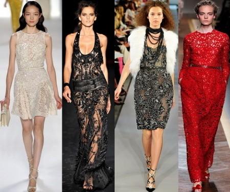 Выбираем идеальное кружевное вечернее платье