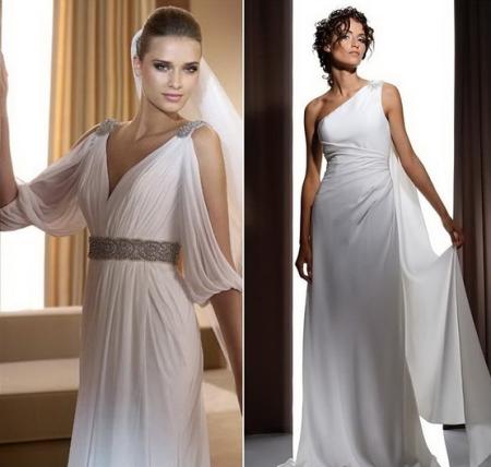 Вечернее белое платье греческий стиль