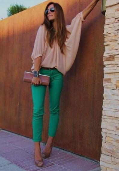 Зеленый + беж