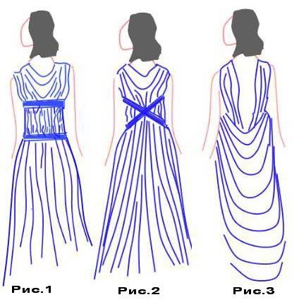 Заднюю часть платья можно сделать аналогично передней