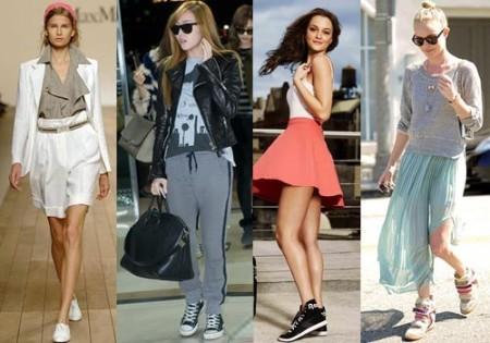 Как и с чем носить низкие кеды?
