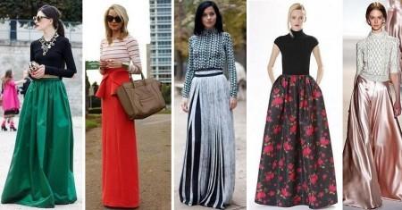 С чем носить длинную юбку?