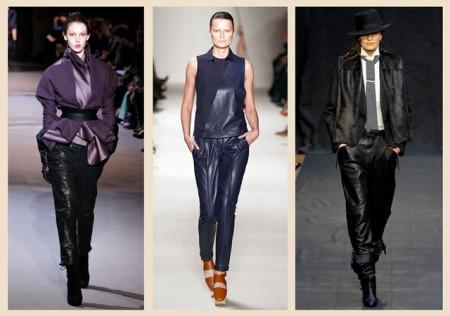 Различные фасоны черных брюк