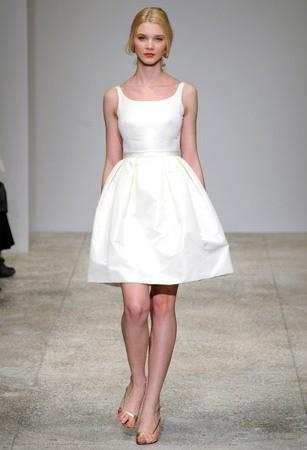 Белое короткое платье для свадьбы купить