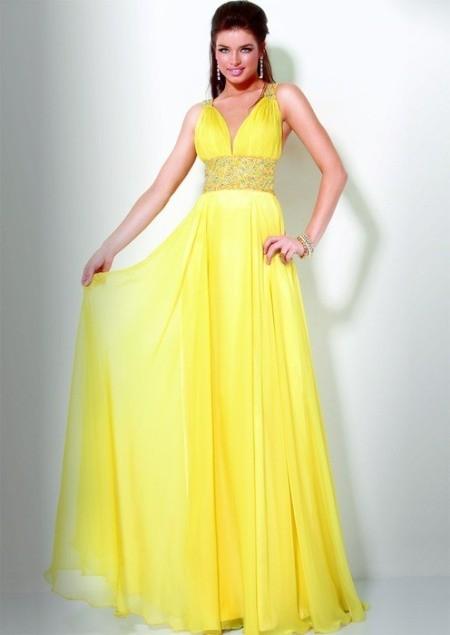 Красивые платья желтого цвета