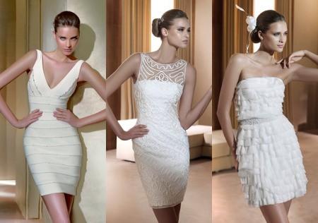 Короткое платье на свадьбу