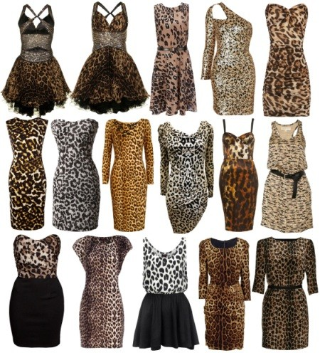 Змеиные и леопардовые платья