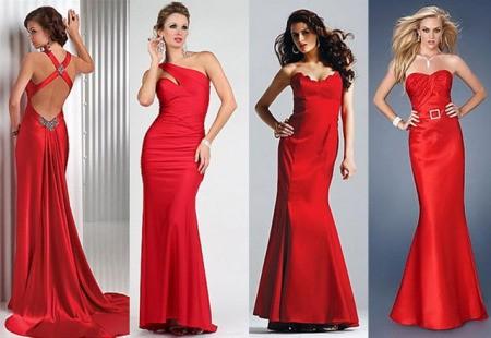 Красное вечерние платья