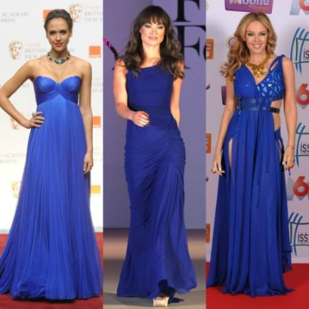 Синие вечерние платья