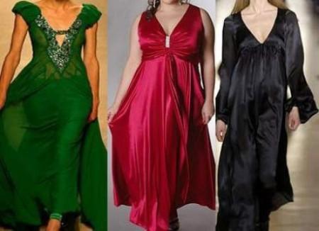 Платье-трапеция для полных дам