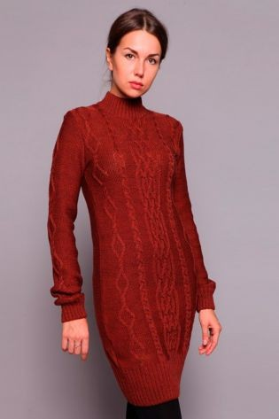 Теплое акриловое, шерстяное или ангоровое платье