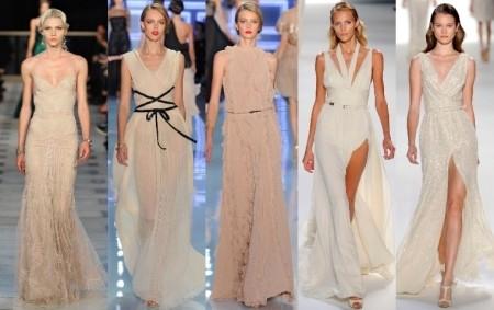 Бальный стиль длинных платьев