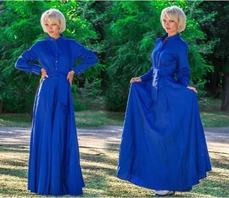 Фасон платья с длинными рукавами