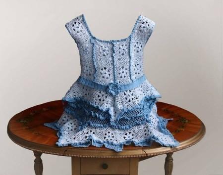 Летние вязаные платья для самых маленьких