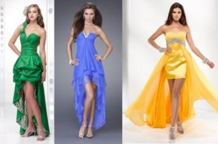 Типы каскадных платьев