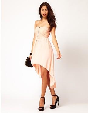 фото каскадное платье