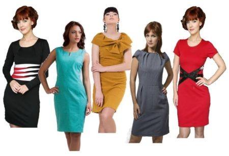 Прямое платье-футляр