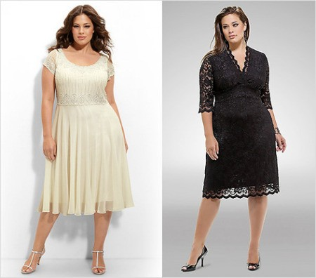 Вечерние и свадебные платья для полных дам