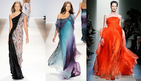 Шифоновые платья 2012 мода и стиль