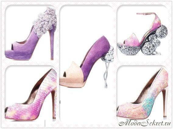 Красивые туфли на высоком каблуке 2012