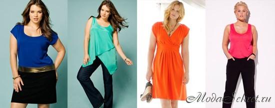 Мода для полных весна лето 2012
