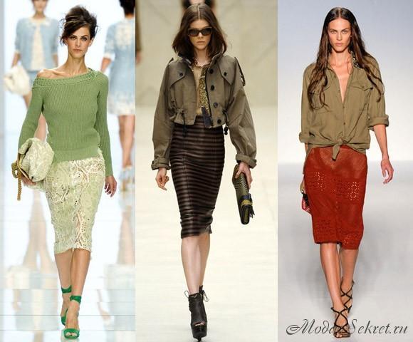 модные юбки на полных девушек 2012.