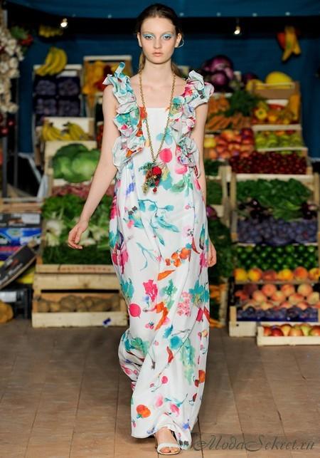 Красивые летние платья с цветочным