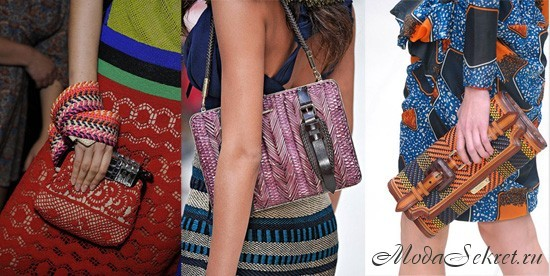 Вязаные сумки 2012 - Alberta Ferretti и Burberry Prorsum.