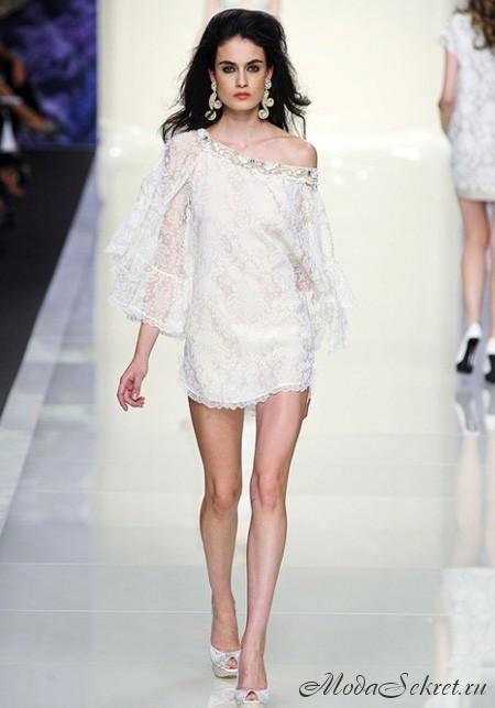 Самые красивые белые свадебные.  Вечерние платья 2012 - на выпускной.