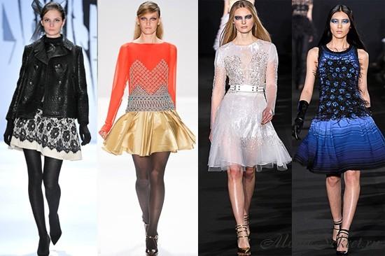 Платья 2012 осень и зима