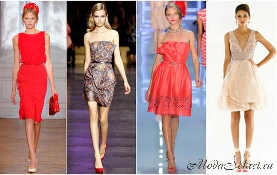 Комментарий: фасоны летних платьев из шифона.