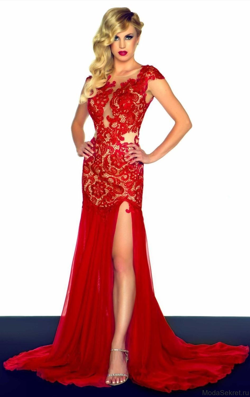 Рыжая в красном платье фото 17 фотография